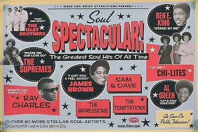 Soul Spectacular Original 2002 Rhino Records Poster James Brown, Temptations