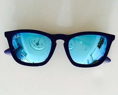 SALE! Ray Ban Chris Velvet Sunglasses Blue Velvet, Blue Lens RB4187 6081/55,54mm