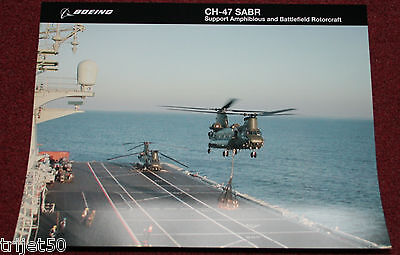 Boeing CH-47 SABR Helicopter Poster