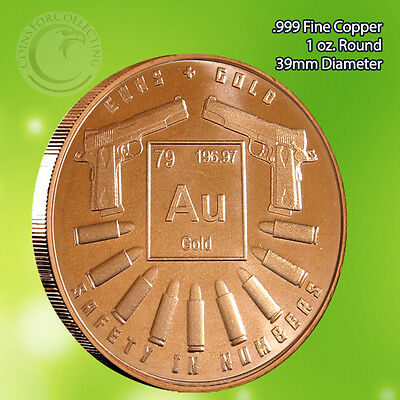 """/""""Food /& Shelter/"""" 1 oz .999 Copper Round Part of the Safety In Numbers Series"""