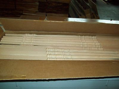 "10 Decorative OAK PIN TOP Balusters/ Spindles 1 1/4"" X 42"" NEW, 5200"