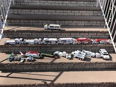 Hess Trucks Lot Of 21 All Types No Boxes Excellent Condition....