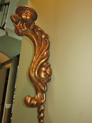 Beauty Pair Antique Vintage Gold Gilt Florentine Wall Sconce Corbels Carved LG