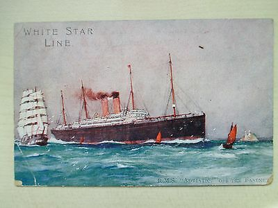 Adriatic R.m.s. White Star Line Of The Fastnet - Posted - Colour Postcard