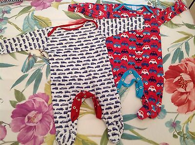 Baby Boy Sleepsuits Boots Miniclub 3-6 Months