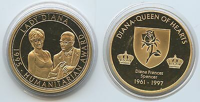 GY629 - Medaille Humanitarian Award 1995 Lady Diana Queen of Hearts 1961-1997