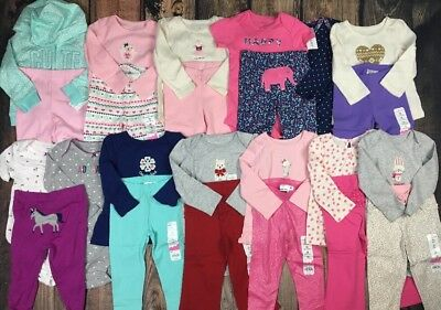 NWT Girl Fall Winter Clothes Outfit Long Sleeve Shirt Pant 16 pc Lot  Sz 18 mo