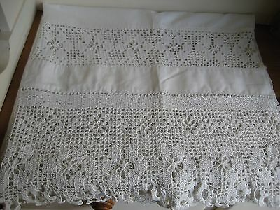Cotton & Lace Table Cloth / Cover
