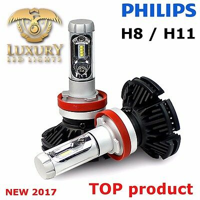 2pcs H8 LED PHILIPS Led Lamp Led H8 Headlight Kit Car Beam Bulbs 6000K 6500K H11