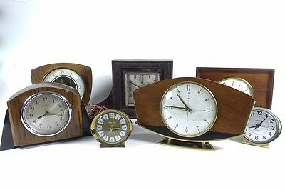 Antique-Vintage 7 Clocks -Job Lot  (Spares and Repairs) Some work
