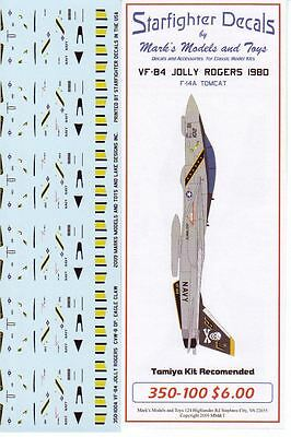 Starfighter Decals 350100  x 1/350 F14A Tomcat VF84 Jolly Rogers 1980 Trumpeter