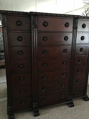 Ralph Lauren Polo Solid Mahogany Gentleman's Chest Dresser By Henredon