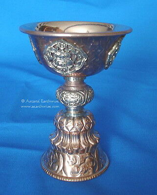 INCENSE CAULDRON CHALICE - COPPER - 110 x 80 mm Wicca Pagan Witch Goth