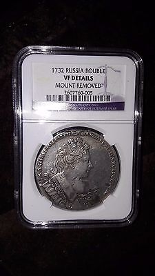 Russia 1732 Ruble Rouble Rare Ngc Encapsulated