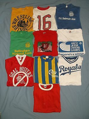 VTG LOT of 10 YOUTH t-shirts 70's/80's Boys kids children's clothing sports