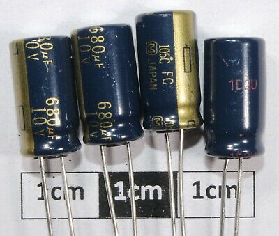 Panasonic FC Radial Electrolytic Capacitor 680uF 10V 105C (Pk of 4)