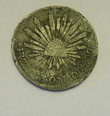 1843 Mexico 4 Reales Republica Mexicana Coin