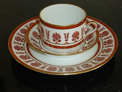 Richard Ginori Ercolano Red Salad Plate Cup And Saucer