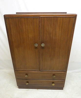 Antique Art Deco Mahogany Highboy Chest of Drawers Linen Press Dresser Tall Boy