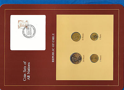 Coin Sets of All Nations Chile UNC 1,5 Pesos 1984 10,50 Pesos 1982