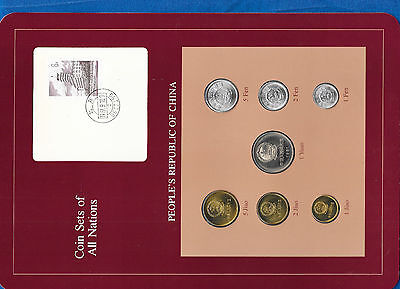 Coin Sets of All Nations China w/card Fens 1982 UNC Yuan & Jiaos 1981 1982.9.10
