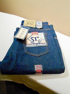 LEVI 517 ~ New Old Stock ~Boot Cut Jean ~ 33 x 30 ~ Rigid ~ Orange Tag ~ U.S.A.