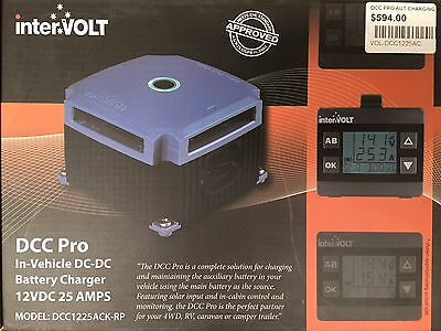 InterVolt DC - DC BATTERY CHARGER 12VDC 25 AMPS WITH LCD IN CABIN REMOTE DISPLAY