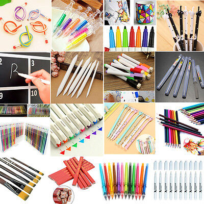 Colorful Cute Cat Gel Ink Ballpoint Roller Pens Stationery Office School Student
