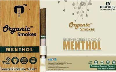 Organic Smokes Menthol Herbal Ayurvedic HOLY BASIL Smoking