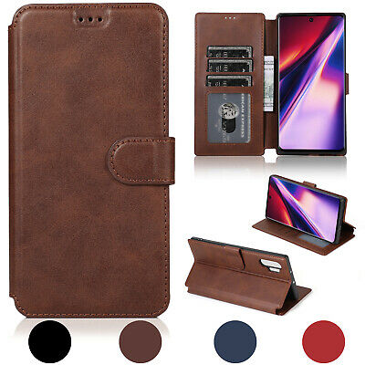 For Galaxy S9/S8/Plus/Note 8 Leather Removable Wallet Magnetic Flip Card Case