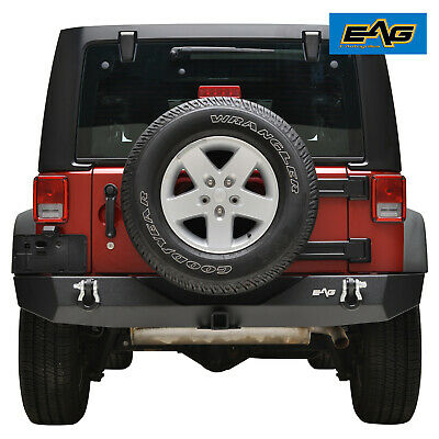 "07-18 Jeep Wrangler JK Full Width Rear Bumper With 2"" Hitch Receiver & D-Ring"