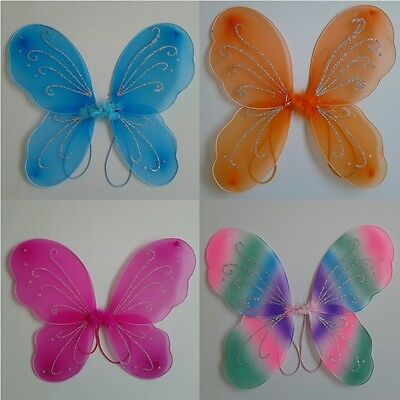 Cute Angel Fairy Butterfly Wings Fancy Princess Party Outfits For Kid Girls Gift