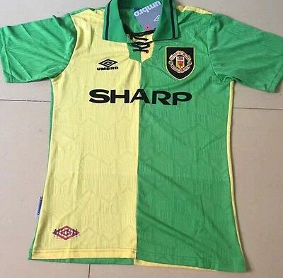MANCHESTER UNITED SHIRT TOP Cantona 7 Size Medium NEWTON HEATH RETRO JERSEY