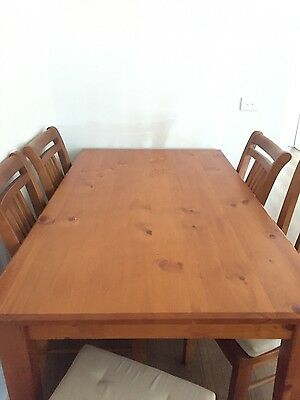 dining table, chairs included