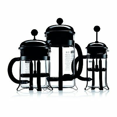 NEW Bodum CHAMBORD Coffee Maker, 0.35L 0.5L 1.0L 1.5L - Shiny