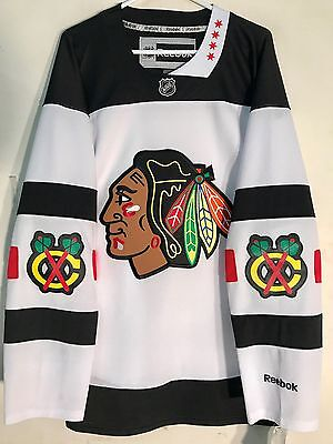 NHL Chicago Blackhawks White Stadium Series Premier Ice Hockey Shirt Jersey