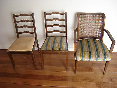 3 x Chairs  -  1 Cane Chair 2 Dining room Chairs