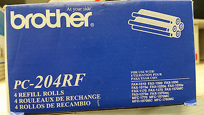 Brother PC-204RF 4 Pack Refill Rolls NEW!!GENUINE!!