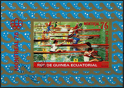 Equatorial Guinea 1976 Olympic Games, Rowing Cto Used Imperf M/S #A92639