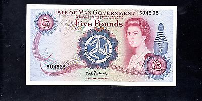 ~ ISLE OF MAN GOVERNMENT  £5 Five Pounds Banknote - P30a (1972) ~