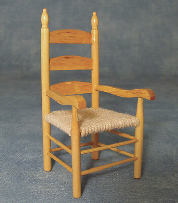 Carver Chair Pine, Dolls House Furniture, Seating Miniature, 1.12 Scale