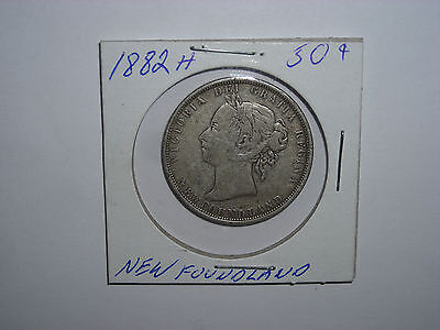 Canada New Foundland 1882H  Fifty Cents Coin  Silver