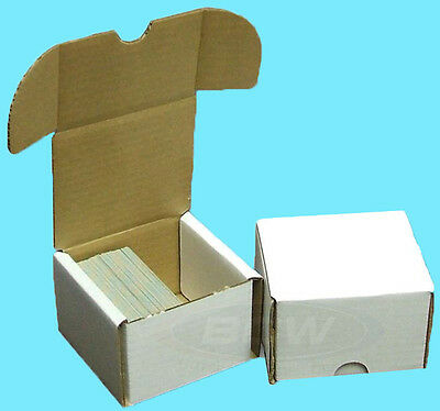 2 BCW 200 COUNT CARDBOARD STORAGE BOXES Trading Sports Card Holder Case Baseball