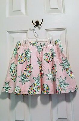 NEW with Tags - Gymboree Girls Pastel Pink Tulip Pineapple Skirt Size 7