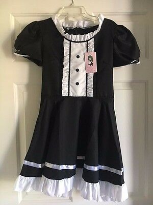 Anime Cosplay French Apron Maid Fancy Dress (Halloween Costume/M/Black&White)