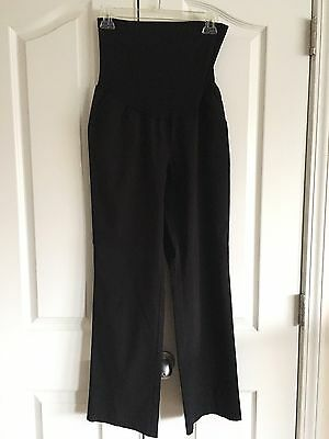 Motherhood Maternity Career Slacks Black Secret Fit Belly Size Petite Large L