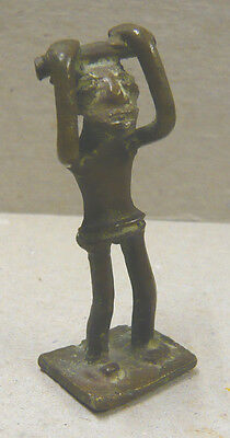 Small Bronze Ethnic Sculpture Of Figure