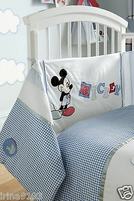 Disney Mickey Mouse Sailor Baby Embellished Cot Bumpers 35 x155 cm New