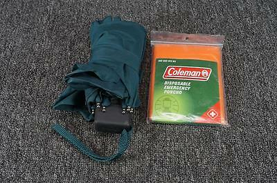 Coleman Disposable Poncho And Shed-Rain Umbrella