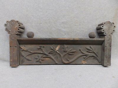 Antique Furniture Door Window Header Pediment Wood Floral Leaves Vintage 403-17R